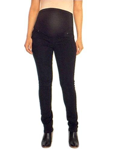 Great Expectations Maternity Petite Full-Panel Skinny Jeans (8P -10P M, Black)