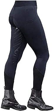 SOOTOP Women's Horse Riding Pants Equestrian Breeches Tights High Waist Pockets Active Leg