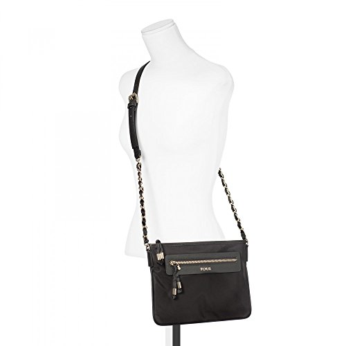 In Shoulder Chain Brunock Medium Tous Black Bag Canvas WTYpSwcB