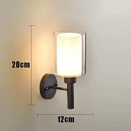 XZHKSP Wall Lights Nordic Style Modern Minimalist Wall lamp with Black Iron Suction Cup Glass Wall lamp E27 Study Wall lamp