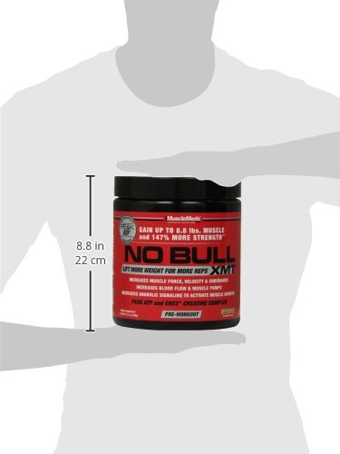 MuscleMeds No Bull XMT Pre-Workout Powder, Lemon Ice, 8.11 Ounce