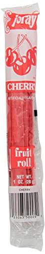 Joray Fruit Roll, Cherry, 1-Ounce Units (Pack of 48) (Real Fruit Rolls)