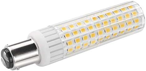 B15 Bombilla SBC 8.5W LED Blanco Cálido 3000K 1105 Lúmenes Ba15d Equivalente a Lámpara Halógena de 100W Doble Bayoneta B15d Luz Para Máquina de Coser/Aparato Lámparas [1 unidades]: Amazon.es: Iluminación