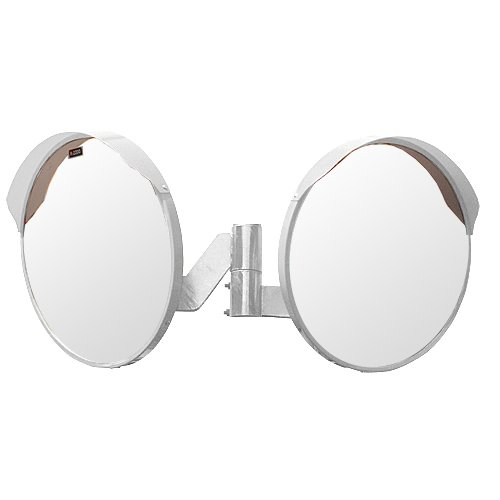 ホップ アクリル製 道路反射鏡 2面鏡セット 丸型80cm φ800 HPLA-丸800W白 日本製 道路反射鏡協会認定商品   B01J6Y6EQ4