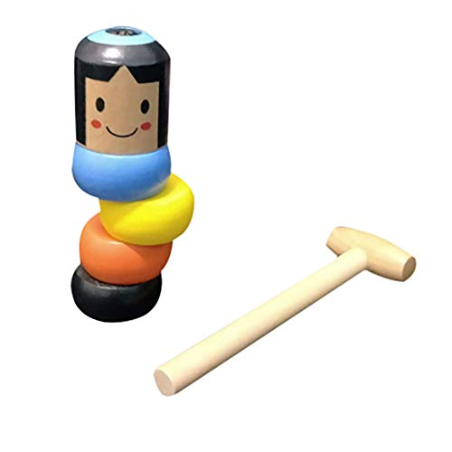 2Pack Unbreakable Wooden Man Magic Toy, Stubborn Wood Man Magic Tricks Props Toys Children Kids Easy Doing Gift Halloween Christmas