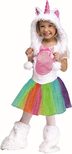 Fun World Costumes Baby Girl's Unicorn Toddler Costume, White, Large (3T-4T) for $<!--$18.99-->