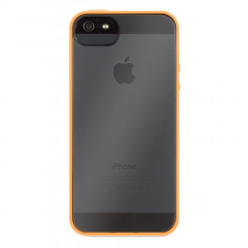 Griffin Itrip Iphone - Griffin 605493-RVFO Reveal Case for iPhone 5-1 Pack - Retail Packaging - Flouro Orange/Clear