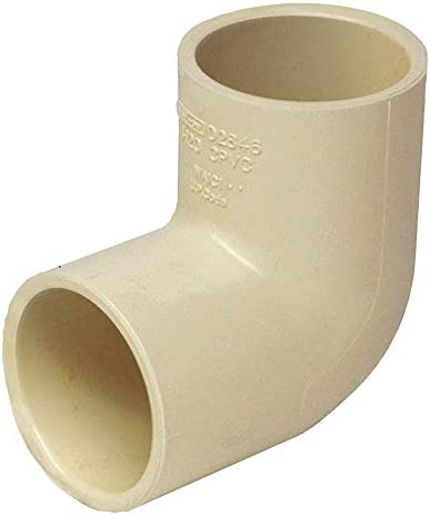 KBI CPVC Elbow CTS RCE-0500-S GR 1//2 Pipe Size Deg CTS Hub Connection Type 90