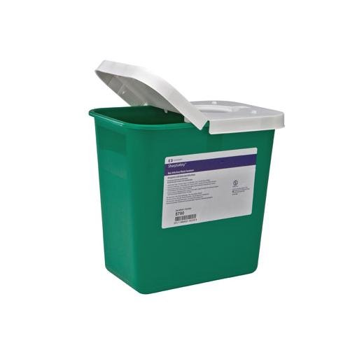 COVIDIEN/MEDICAL SUPPLIES SHARPSAFETY NON-INFECTIOUS WASTE CONTAINER Waste Container, 8 Gallon, Green, 10/cs