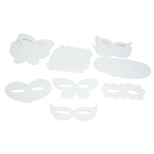Diy Assorted Shaped Paper Masks (24 Pack) -