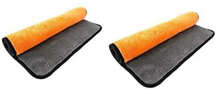 CQIANG 洗車タオルクリーニングクロス、超吸収性肥厚ぼろ、カーインテリアクリーニング特殊タオルリント、ふかふか肥厚、2枚