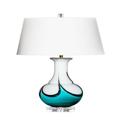Bradburn Gallery Skylight Blue, White, and Black One-Light Table Lamp - Bradburn Lamps