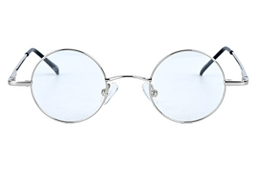 Agstum Small Round Prescription Eyeglasses Frame Clear Lens 37mm (X-small Size)