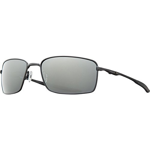 Oakley Square Wire Sunglasses Matte Black / Black Iridium Polarized & Care - Wires Square Oakley