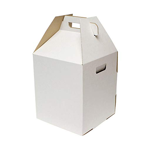 Special T | Popup Disposable Cake Carrier Tall Cake Caddy 2 or 3 Layer Cake Carrier - 16 Inch Tall 14x14 Cake Box 10-Pack