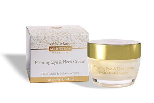 Mon Platin Edition Gold-raffermissant yeux & cou crème avec Caviar noir & complexe or 50ml