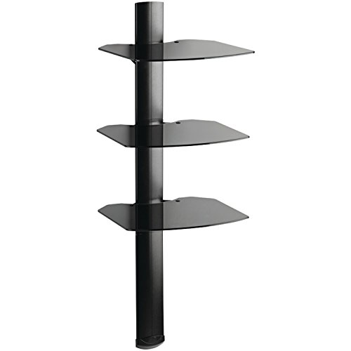 OmniMount Tria 3 Shelf Wall System, Black