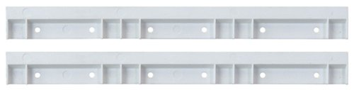 Quantum HNS006 12-Inch Wide Hanging Plastic Rail for Hang-N-Stack Series Bins, White, 2-Pack ()