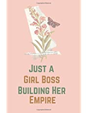 """Just a Girl Boss Building Her Empire 2020-2024 Planner:: Lined Checklist Journal Notebook 5 Year Monthly Calender & Organizer & Agenda with 60 Months Spread View, Gift for Women girls, mother woman , 110 pages 6"""" x 9"""" inches"""