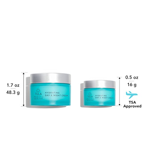 (TULA Probiotic Skin Care Day & Night Cream Everywhere Duo - Full & Travel Size, 1.7 oz. & 0.5 oz.)