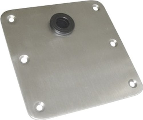 SeaSense Seat Deck Base off-centered, 7 X 7-Inch, Stainless Steel
