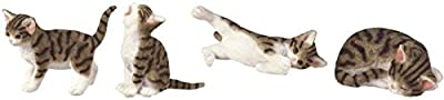 StealStreet SS-G-18060, Cat Figurine Collection Feline Animal Collectible Decoration (Set of 4)
