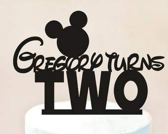 Adorno para tarta de Mickey Mouse, diseño de Mickey Mouse ...