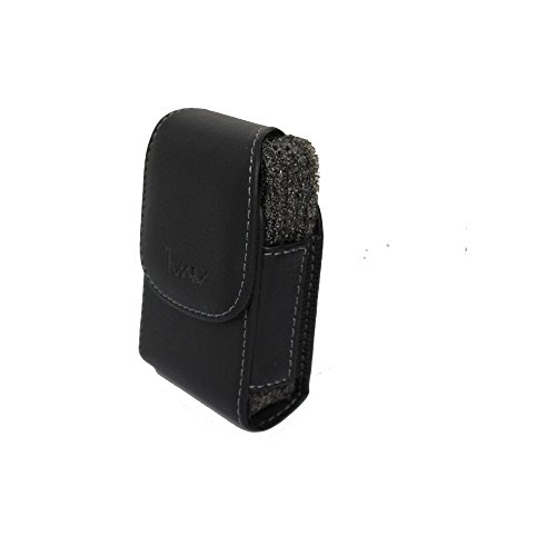 Black Vertical Stylish Leather Cover Belt Clip Side Holster Case Pouch For Samsung MyShot 2 II SCH-R460 (Cases Protective R460)