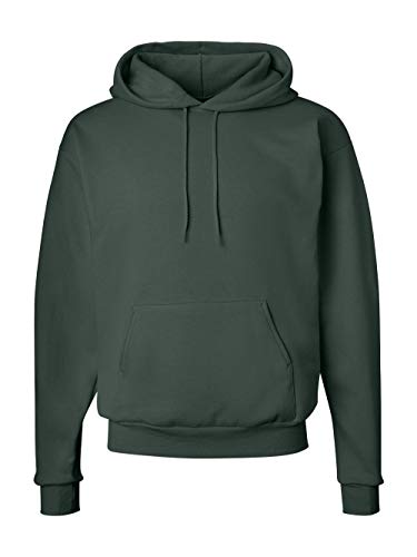 Hanes Men's Pullover EcoSmart Fleece Hoodie, Deep Forest, X-Large