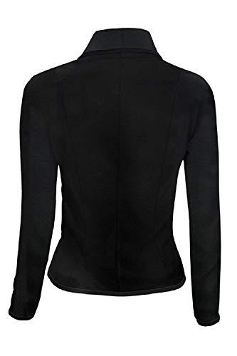Poches coloré Avec Taille Xxx Et Noir Femmes De Oudan Noir Ringer Vêtements Casual Serrés large Blazer Travail XFWqTw