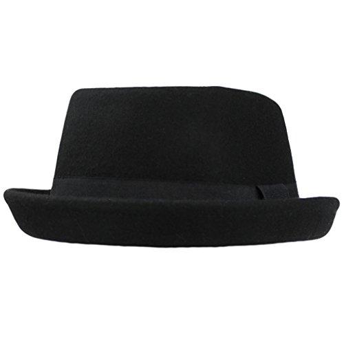Hawkins Herren Pork Pie-Hut schwarz schwarz Einheitsgröße Gr. M/L-59 cm, schwarz