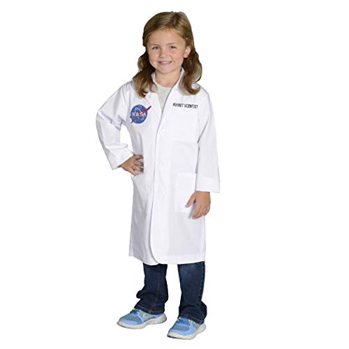 Aeromax Jr. NASA Rocket Scientist Lab Coat, White, Size 4/6 -