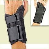 FLA Low Profile Wrist Splint for Right Hand, Black, Small