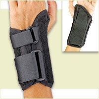 (Florida Orthopedics Prolite Low Profile Wrist Splint, Black, Left Medium )