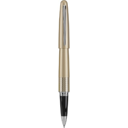 Pilot Metropolitan Collection Gel Roller Pen, Gold Barrel, Zig-Zag Design, Fine Point, Black Ink (91203)