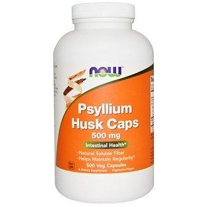 Psyllium Husk Caps, 500 mg, 500 Veg Capsules
