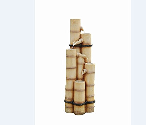 Pouring Bamboo Poles Oriental Garden Patio Water Feature Kit