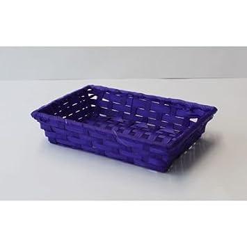 Bambuskorb Eckig Violett Ph 9562 11 24x16 5x6cm Paperheart A45