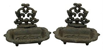 Cast Iron Old Style Victorian Soap Dish Set of ()