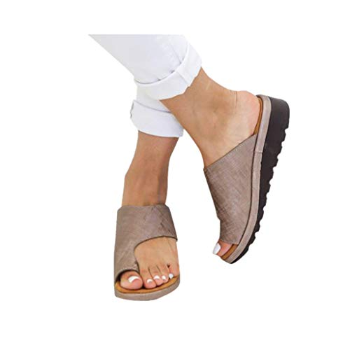 Dressin Women's Sandals 2019 New Women Comfy Platform Sandal Shoes Summer Beach Travel Shoes Fashion Sandal Ladies Shoes Brown