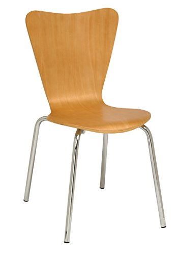 (KFI Seating Contemporary Natural Wood Cafe Chair, Commercial Grade, Natural Wood)