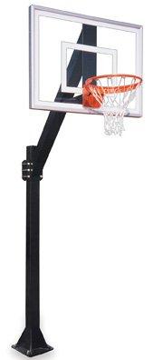 最初チームLegend Jr。iii-bp steel-acrylic in ground固定高さバスケットボールsystem44 ;スカーレット B01HC0C9QI