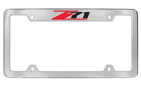 Amazon.com: Chevrolet Z71 License Plate Frame Holder (4 Hole/Brass ...