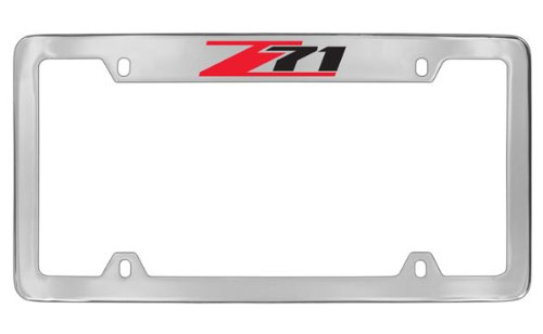 Amazon.com: Chevrolet Z71 License Plate Frame Holder (4 Hole / Brass ...