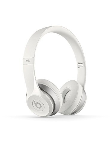 Beats Solo 2 WIRED On-Ear Headphone NOT WIRELESS - White (Certified Refurbished)