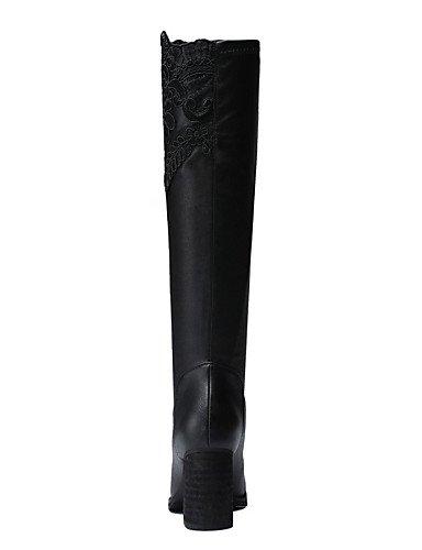 Sintético Zapatos Uk6 De 5 Tacón Moda 5 us8 us7 Fiesta Uk5 Cn40 Noche Robusto Eu38 Botas Black Negro Xzz A Casual Black 5 Mujer La Eu39 Vestido Y Moto Cn38 5 ZdxH1d5w