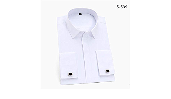 Camisa de Manga Larga para Hombre, diseño de puño francés ...