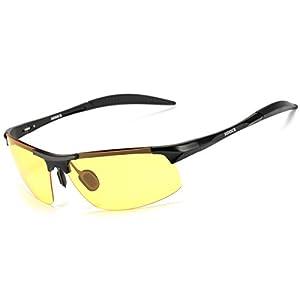 Night Vision Glasses for Men - Yellow Lens Back Frame