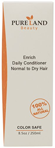 Pureland Beauty Enrich Daily Conditioner - Natural Hair Conditioner for Normal To Dry Hair - Sulfate-Free and Plant-Based - 8.5 Ounce