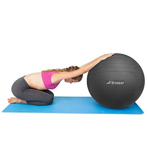 Trideer Exercise Ball (45-85cm) Yoga Ball Chair, Anti-Burst & Extra Thick, Birthing Ball with Quick Pump, Supports 2200lbs, Stability Ball (Office and Home) by Trideer (Image #3)